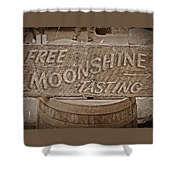 Free Moonshine Shower Curtain
