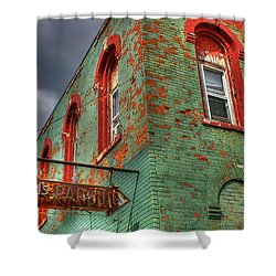 Free Parking Shower Curtain by Randy Pollard