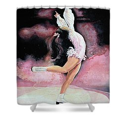 Shower Curtain featuring the painting Free Spirit by Hanne Lore Koehler