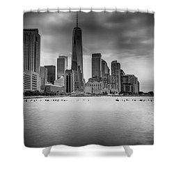 Freedom In The Skyline Shower Curtain