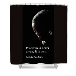 Freedom Is Never Given Shower Curtain by Ian  MacDonald