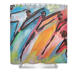 Freedom Joyful Ballet Shower Curtain
