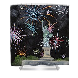 Shower Curtain featuring the painting Freedom by Judith Rhue