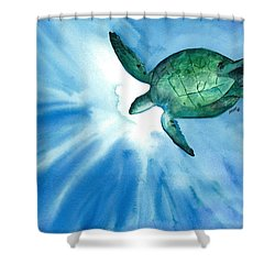 Sea Tutrle 2 Shower Curtain