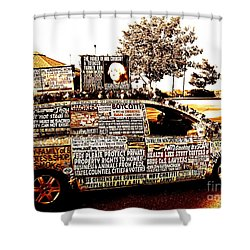 Freedom Of Speech On Wheels Shower Curtain by Desiree Paquette