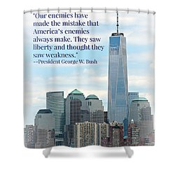 Freedom On The Rise Shower Curtain by Stephen Stookey