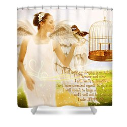 Freedom Song With Scripture Shower Curtain