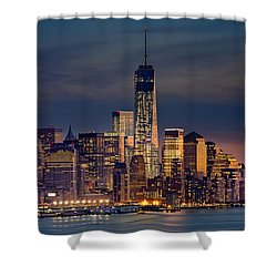 Freedom Tower Construction End Of 2013 Shower Curtain