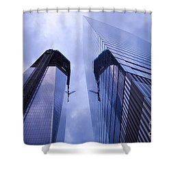 Freedom Tower Ground Zero New York City Shower Curtain by Sabine Jacobs
