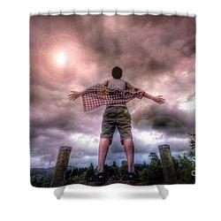 Freedom Shower Curtain by Yhun Suarez
