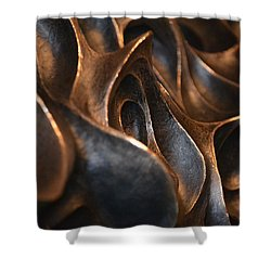 Shower Curtain featuring the photograph Freeform Metal  by Nadalyn Larsen