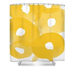Freesia Splash Shower Curtain by Linda Woods