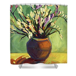 Freesias Shower Curtain