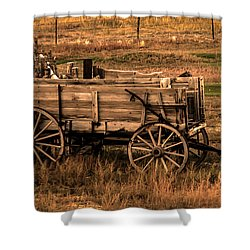 Freight Wagon Shower Curtain by Robert Bales