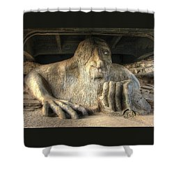 Shower Curtain featuring the photograph Fremont Public Art by Chris Anderson