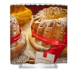 French - Alsace Pastry Shower Curtain by Brian Jannsen