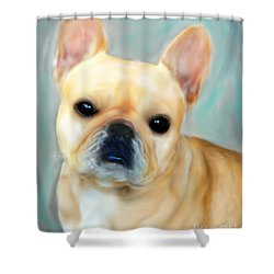 French Bulldog Mystique D'or Shower Curtain by Barbara Chichester