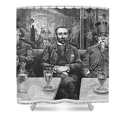 French CafÉ, 19th Century Shower Curtain by Granger