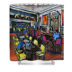 French Cafe Interior Shower Curtain