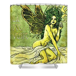 French Cafe Poster C1885 Shower Curtain by Padre Art