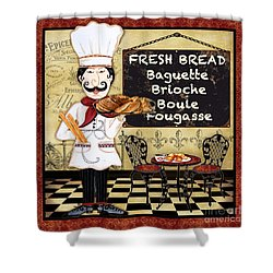 French Chef-a Shower Curtain