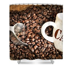 French Coffee Shower Curtain by Delphimages Photo Creations