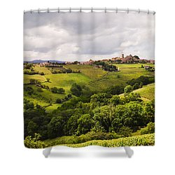 Shower Curtain featuring the photograph French Countryside by Allen Sheffield