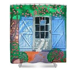 French Farm Yard Shower Curtain by Magdalena Frohnsdorff