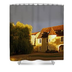 French House At Sunset Shower Curtain