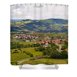 French Landscape 2 Shower Curtain by Allen Sheffield