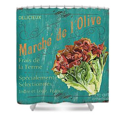 French Market Sign 3 Shower Curtain by Debbie DeWitt