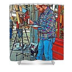 French Quarter Artist Painted Shower Curtain by Steve Harrington