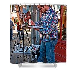 French Quarter Artist Shower Curtain by Steve Harrington