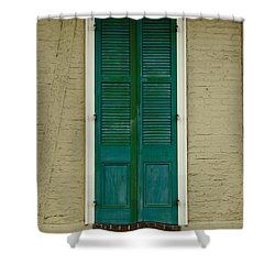 French Quarter Door - 15 Shower Curtain by Susie Hoffpauir