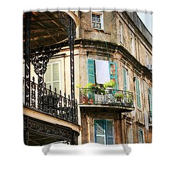 French Quarter Morning Shower Curtain