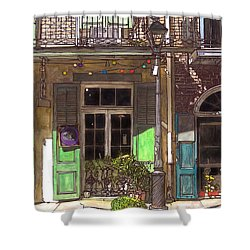 French Quarter Shop 369 Shower Curtain by John Boles