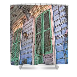 French Quarter Shutters 368 Shower Curtain by John Boles