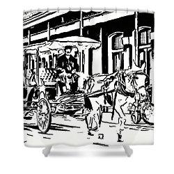 French Quarter Wheels 2 Shower Curtain by Steve Harrington