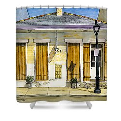 French Quarter Yellow Brick House 367 Shower Curtain by John Boles