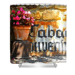 French Tabac Shower Curtain by Lauren Leigh Hunter Fine Art Photography