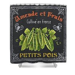 French Vegetables 2 Shower Curtain by Debbie DeWitt