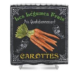 French Vegetables 4 Shower Curtain by Debbie DeWitt