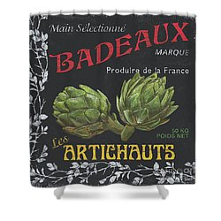 French Veggie Labels 1 Shower Curtain