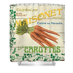 French Veggie Sign 2 Shower Curtain
