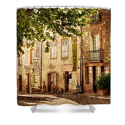 Shower Curtain featuring the photograph French Village Street / Meyssac by Barry O Carroll