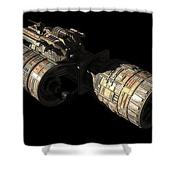 Frenchbulgarian Orbital Weapons Shower Curtain by Rhys Taylor
