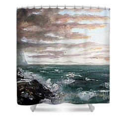 Frenchman's Bay Shower Curtain by Lee Piper