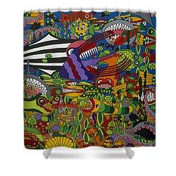 Frenzy Shower Curtain by Rojax Art