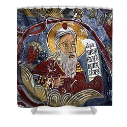 Fresco At The Sumela Monastery Turkey Shower Curtain by Robert Preston