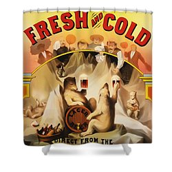 Fresh And Cold Direct From The North Pole Shower Curtain by Bill Cannon